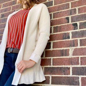 Madewell Fulton Sweater-Coat Wool Cream Medium M